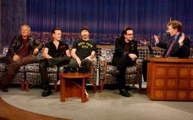 U2 in Late Night with Conan O'Brien
