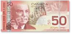 Billet de 50$ canadien
