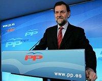 El Presidente del Partido Popular y lider de la oposición, Mariano Rajoy
