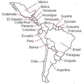 Los pa�ses de la América latina