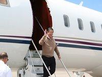 Fujimori arrives in Santiago