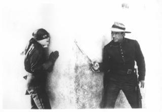 Zorro behind corner