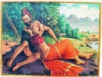Viswamithran and Menaka