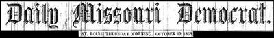 Missouri Democrat-10-19-1865-Heading On Black