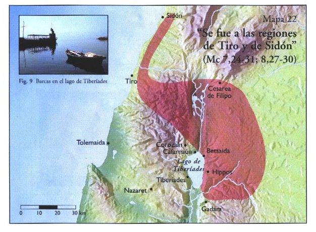 Resultado de imagen de mapa de tiro y sidon en tiempos de jesus
