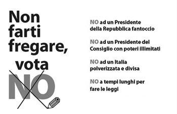 voto No al referendum costituzionale
