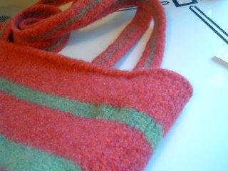 Stripey Felted Bag