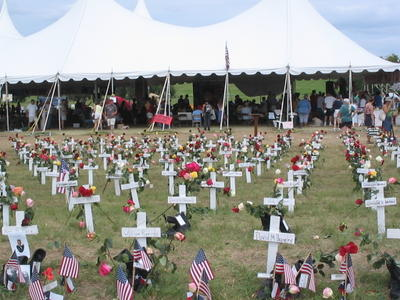 Crosses at Camp Casey