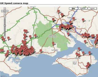 Mapping News by Mapperz Speed camera locations data from Pocket GPS World  Maps Google Maps UK