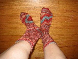 Completed Jaywalker socks