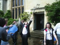 Me being trashed in Second Quad, Jesus College, Oxford