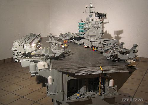 deblogatory  Massive   Interesting LEGO Structures And another massive LEGO structure  this time an aircraft carrier entirely  made of Lego