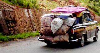 An Ambassador Car on Shillong Road
