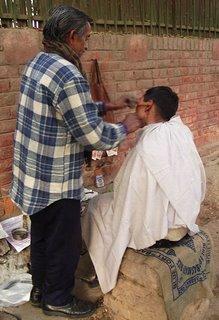 Getting the cut at an Ita-lian salon