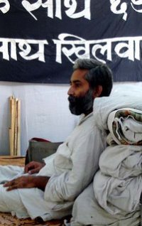 Sandeep Pandey on day five of his fast