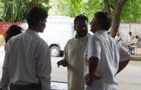 Rajinder Singh in a deliberation