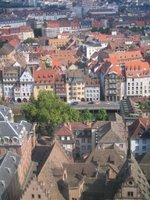 southern panorama from the viewing platform of Strasbourg Cathedral, July 2006
