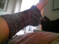 The stupid socks that haunt me & my cat who 'helps' me fight the forces of evil