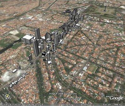 Sudirman-Thamrin Jakarta di Google Earth
