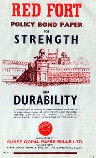 Red Fort policy bond paper - Shree Gopal Paper Mills Ltd.