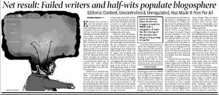 Times of India article on Indian blogs
