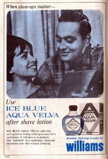 Ice Blue Aqua Velva after shave lotion from Williams