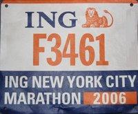 my marathon bib!
