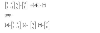 MATLAB 之工程應用: 10.2 線性聯立方程式矩陣解法