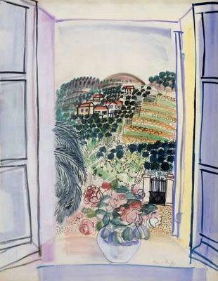 Raoul Dufy, Fenêtre ouverte à Saint-Jeannet - c. 1926/1927