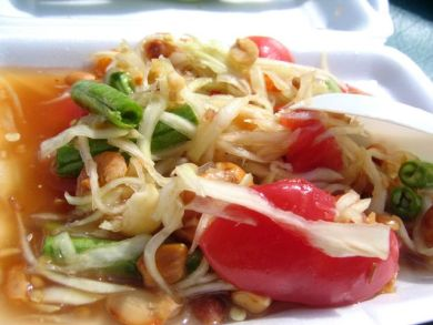 Papaya salad in Phuket