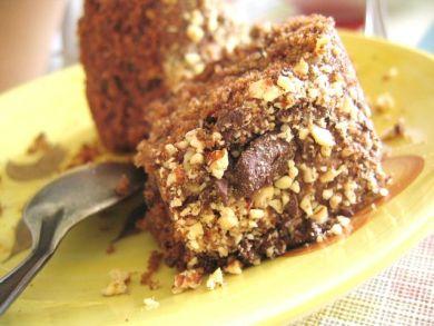 wholemeal chocolate almond coffee cake