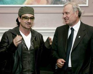Bono and Canadian PM Paul Martin