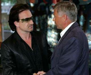 Bono and The Norwegian Prime Minister
