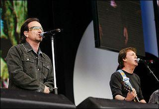 Live 8: Bono and Paul