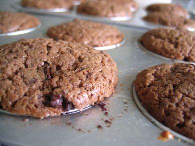 freshly baked choc muffins