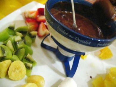Clarity Café's Chocolate Fondue