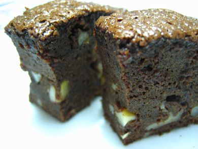 pieces of brownie