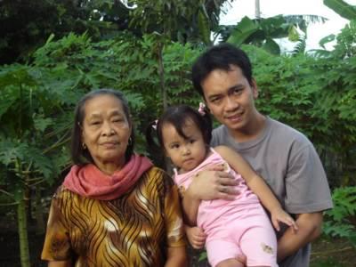Nanay, Abby and me