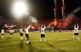 Colo Colo celebra su triunfo