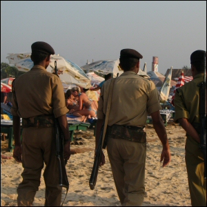Cops in Goa, India