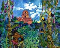 Mayan jungle scene