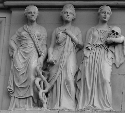 Three Goddesses at Portland's Medical Dental Building