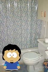 Masqui en el baño