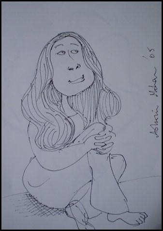 anita in caricature in circa 1993