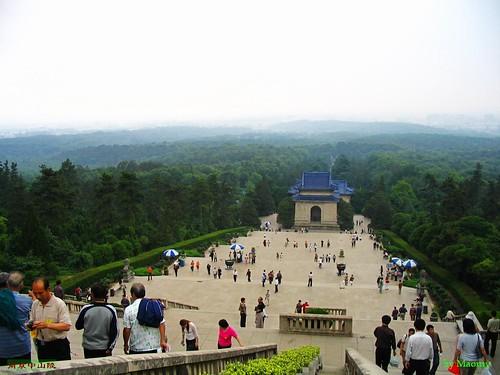 南京中山陵远眺