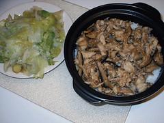 Pot rice dinner for tonight