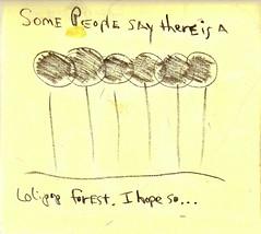 Sumi-Doodles: lollipop forest