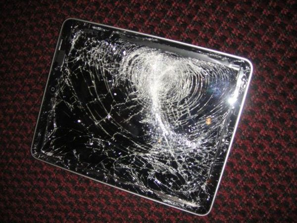 Smashed iPad at June NYTM
