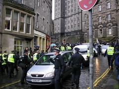 Chasing protestors up Cockburn street