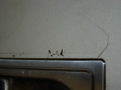 Detail of cracked counter